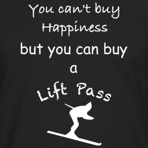 Can't buy happiness but you can buy a Lift Pass - Männer Premium Langarmshirt