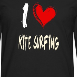 I love kite surfing - Men's Premium Longsleeve Shirt
