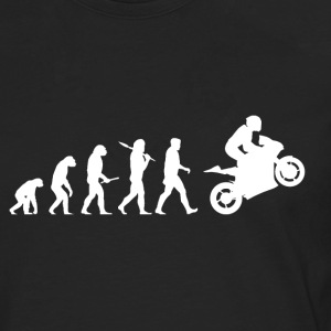 Evolution Motorbike! Motorcycle! funny! Bikers! - Men's Premium Longsleeve Shirt