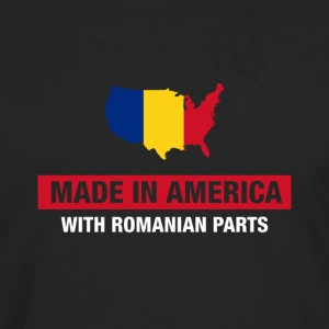 Made In America With Romanian Parts Romania Flag - Men's Premium Longsleeve Shirt