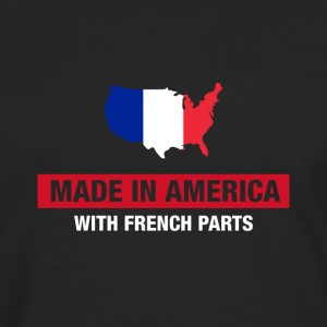 Made In America With French Parts France Flag - Men's Premium Longsleeve Shirt