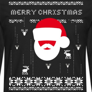 gamer santa gift nerds geek game pixel xmas - Men's Premium Longsleeve Shirt
