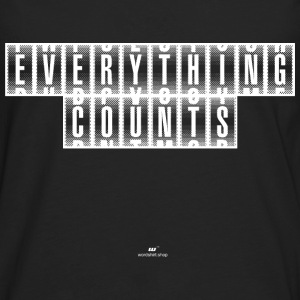 Everything Counts wit - Mannen Premium shirt met lange mouwen
