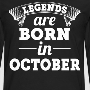 Legends are born in December gift shirt - Men's Premium Longsleeve Shirt
