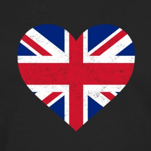 UK Flag Shirt Heart - Brittish Shirt - Men's Premium Longsleeve Shirt