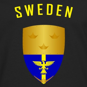 SVERIGE CROWNS SHIELD - Premium langermet T-skjorte for menn