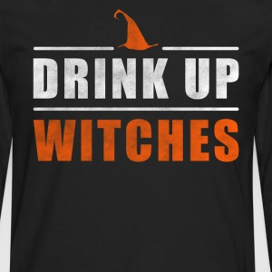 Halloween Drink up Witches outfit - Mannen Premium shirt met lange mouwen