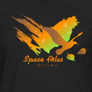 Space Atlas Long Shirt Tee Autumn Leaves - Men's Premium Longsleeve Shirt