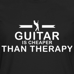 Guitar is cheaper than therapy - Men's Premium Longsleeve Shirt