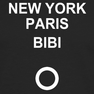 New York, Paris, Bibi! - Premium langermet T-skjorte for menn
