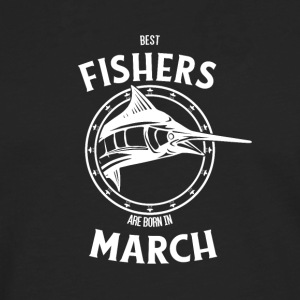 Present for fishers born in March - Men's Premium Longsleeve Shirt