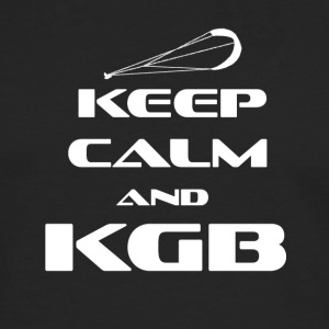 Kitesurfing - KEEP CALM AND KGB - Herre premium T-shirt med lange ærmer