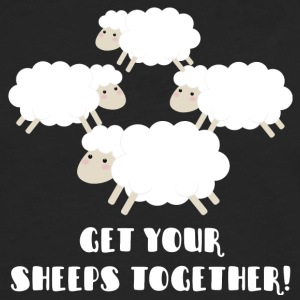 Schapen / boerderij: Get Your Sheeps Together! - Mannen Premium shirt met lange mouwen