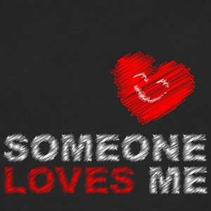 someone loves me - Men's Premium Longsleeve Shirt