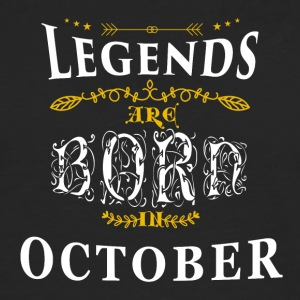 Birthday October legends born gift birth - Men's Premium Longsleeve Shirt