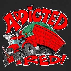 Addicted2RED vit kant - Långärmad premium-T-shirt herr