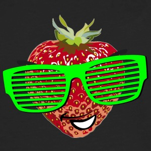 horny strawberry strawberry cool sunglasses Hipste - Men's Premium Longsleeve Shirt