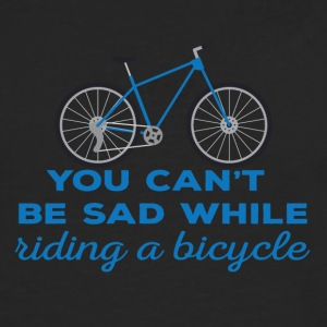 Fahrrad: You can´t be sad while riding a bicylce. - Männer Premium Langarmshirt