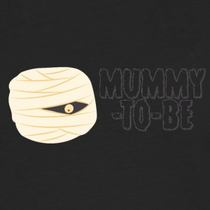 Halloween: Mummy-To-Be - Mannen Premium shirt met lange mouwen