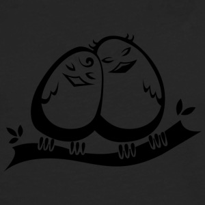 Love Birds COLLECTION - Långärmad premium-T-shirt herr