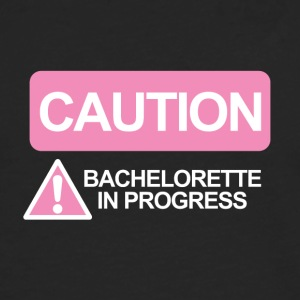 JGA / Bachelor: Caution - Bachelorette - Men's Premium Longsleeve Shirt