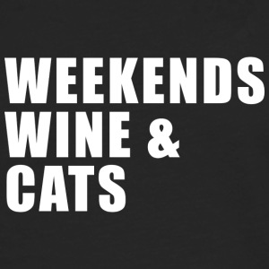 WEEKEND, WINE AND CATS! - Men's Premium Longsleeve Shirt