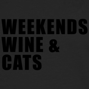 WEEKEND. WINE AND CATS! - Men's Premium Longsleeve Shirt