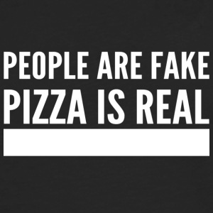 People are fake pizza is real - Men's Premium Longsleeve Shirt
