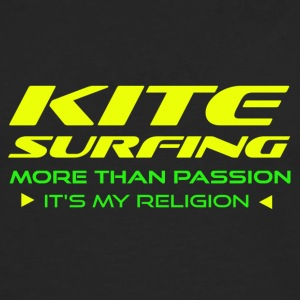 KITESURFING - MORE THAN PASSION - ITS MY RELIGION - Men's Premium Longsleeve Shirt