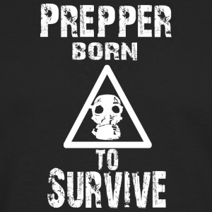 Prepper born to Survive - Men's Premium Longsleeve Shirt