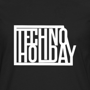 Techno Holiday - Premium langermet T-skjorte for menn