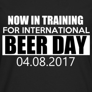 Trening for International Beer DAY - Premium langermet T-skjorte for menn