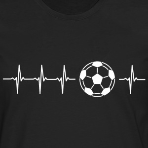 I love football (battement de coeur du football) - T-shirt manches longues Premium Homme