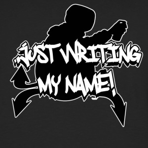Just Writing My Name Graffiti Tank-Top - Herre premium T-shirt med lange ærmer