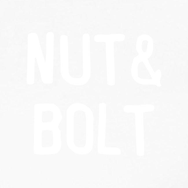 Brand Logo White by Nut & Bolt Apparel