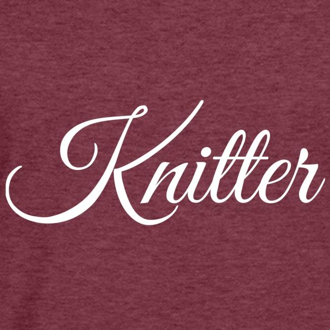Knitter, white
