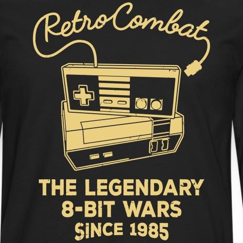 Retro Combat - The 8-Bit Wars - Männer Premium Langarmshirt