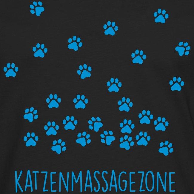 Vorschau: Katzen Massage Zone - Männer Premium Langarmshirt