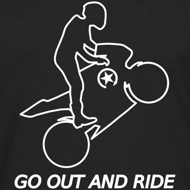 wyjdź i jeźdź na kołach superbike