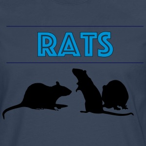 Rats With Rats' Silhouette - Men's Premium Longsleeve Shirt