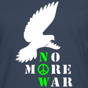 No More War Now Silhouette - Männer Premium Langarmshirt