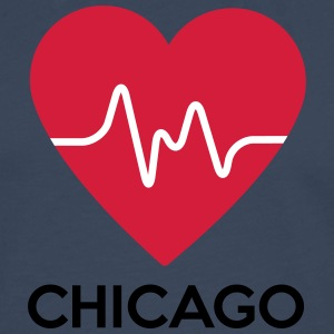 heart Chicago - Men's Premium Longsleeve Shirt