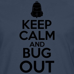 Keep Calm og Bug Out - Herre premium T-shirt med lange ærmer