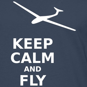 Keep calm and fly - Männer Premium Langarmshirt