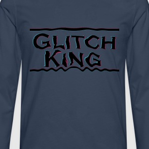 Glitch-King logo (extreme) - Men's Premium Longsleeve Shirt