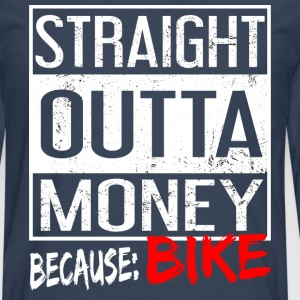 Straight Outta argent Bike Rider T-shirt - T-shirt manches longues Premium Homme