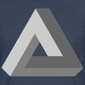3D Impossible Triangle - Men's Premium Longsleeve Shirt