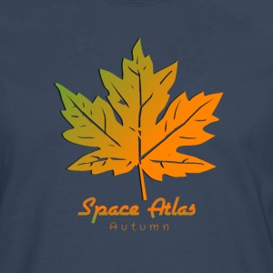 Space Atlas T-shirt Autumn Leaves - Men's Premium Longsleeve Shirt