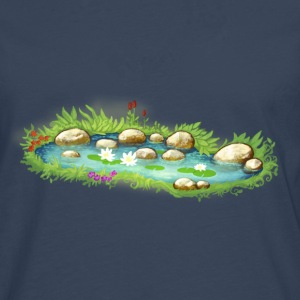 Garden Pond Pond Water Plants - Men's Premium Longsleeve Shirt