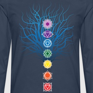 7 chakras on Tree - Men's Premium Longsleeve Shirt